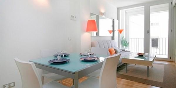 mesa comedor azul