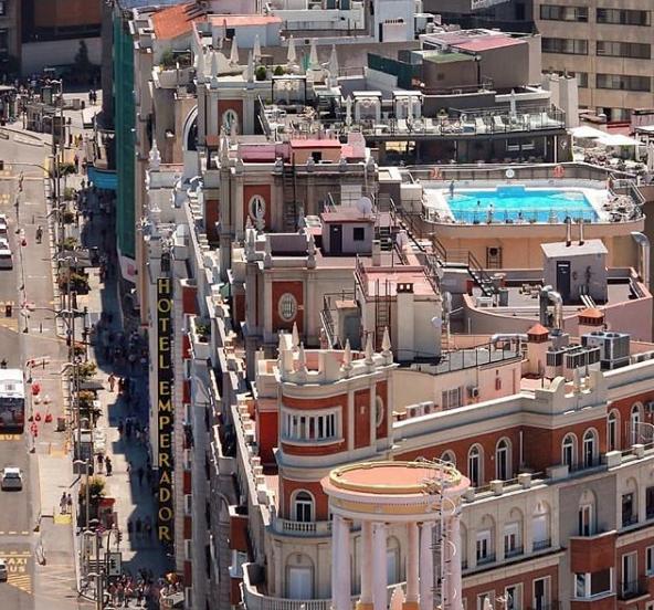 Vista aérea Hotel Emperador Madrid