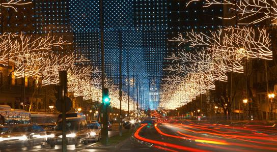 Luces de navidad Madrid 2017