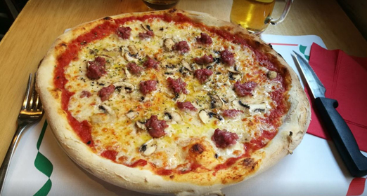 Comer pizza Madrid
