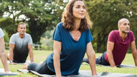 ¿Hacer yoga en el retiro? ¡Sí!