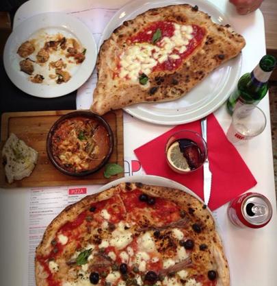 Pizzas napolitanas en Madrid