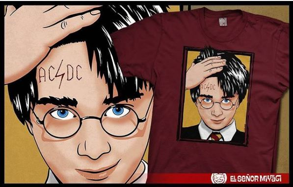 Camiseta friki Harry Potter