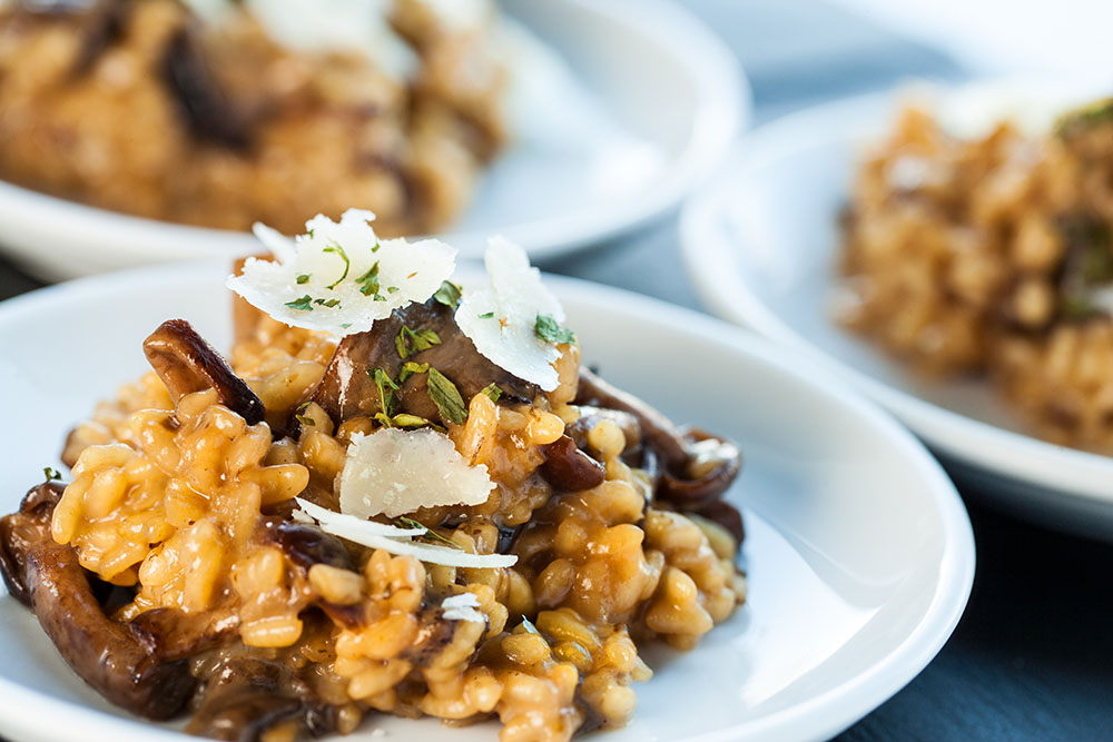 Gastronomia de otoño, temporada de setas en madrid salteado de setas, risotto de setas, gavirental