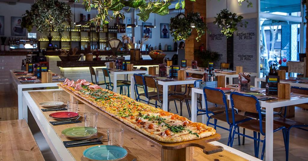 Restaurante kilometros de pizza, restaurantes con niños en Madrid, Gavirental